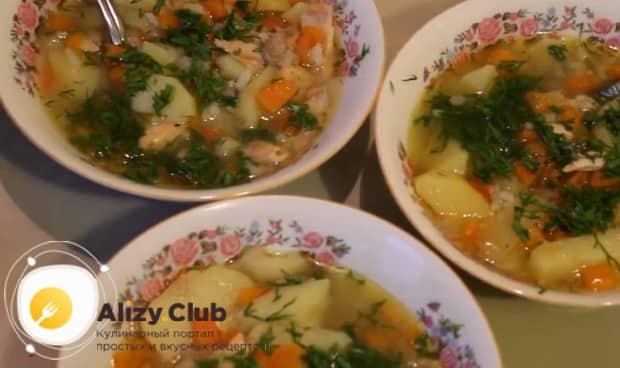 Рыбный суп из головы форели