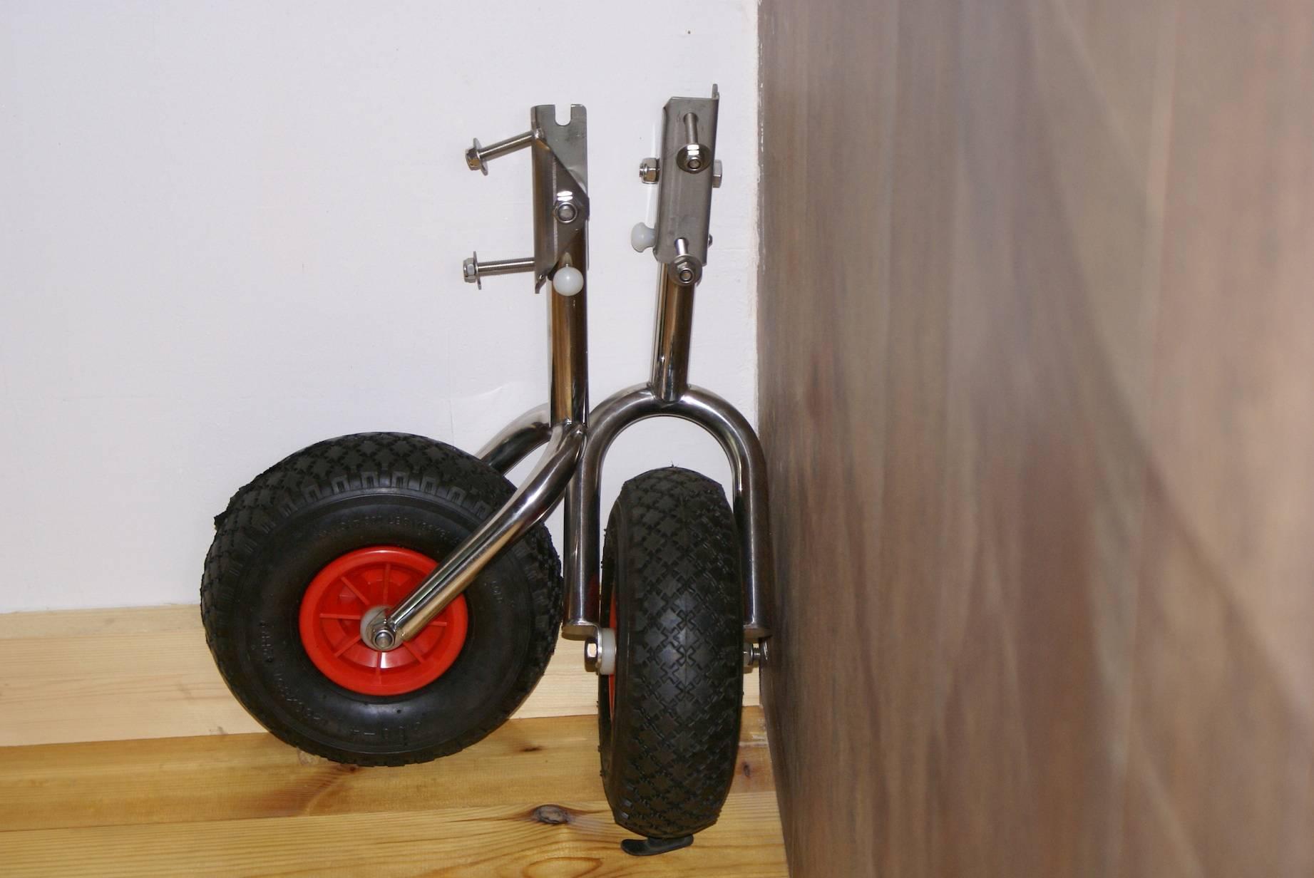 Установка транцевых колес, простая универсальная методика