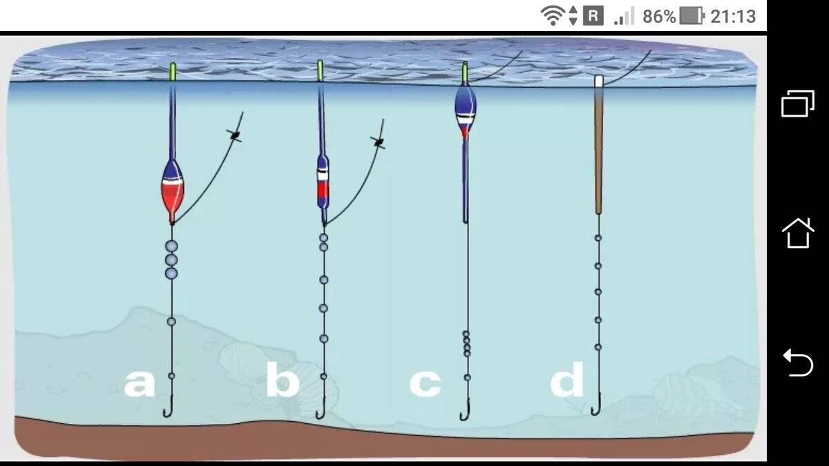 Скользящий поплавок: оснастка и монтаж, крепление, устройство