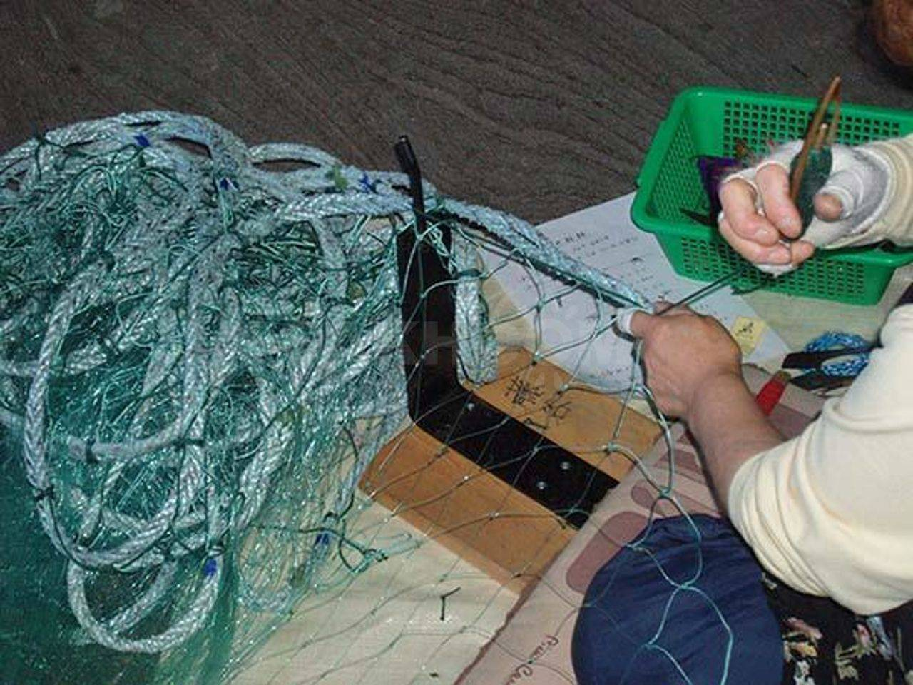 Как сажают сплавные сети