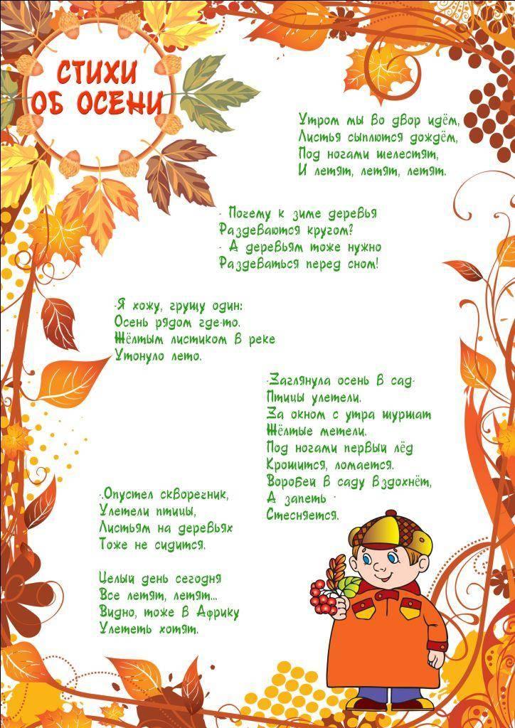 Стихи про осень для детей: 40 лучших