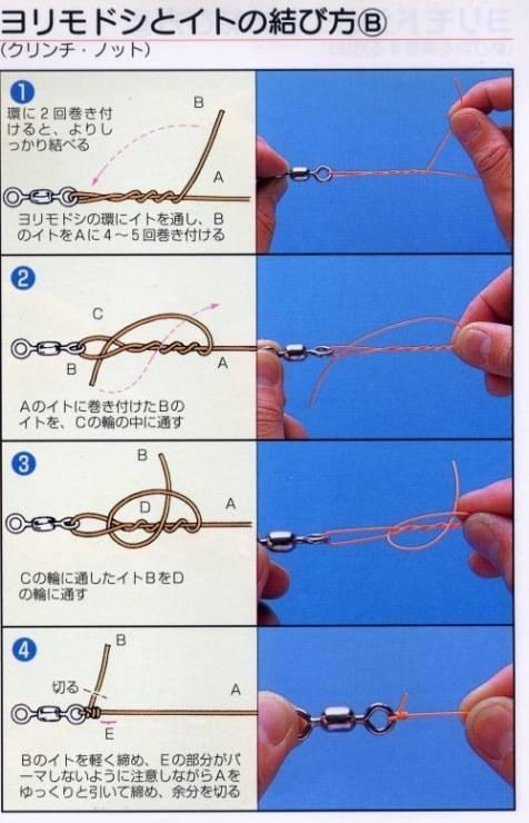Рыболовные узлы в картинках — много способов