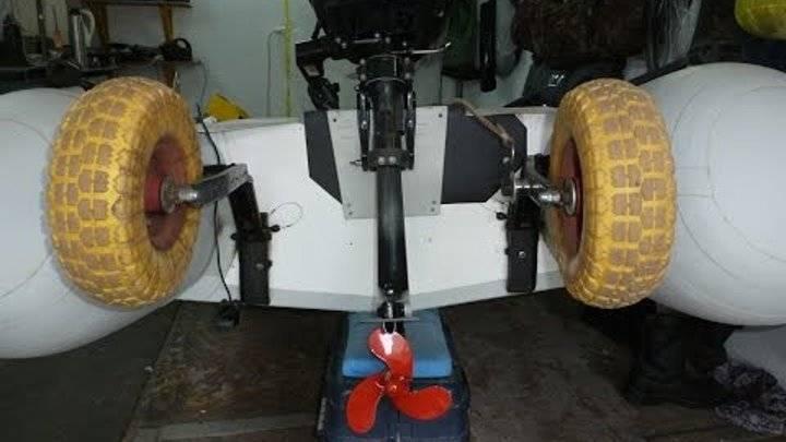 Изготовление транцевых колес для лодки своими руками