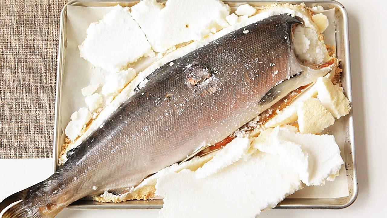 Запеченная в соли рыба как ее приготовить в соляном панцире фламбе пошаговый рецепт рыбы в солевой корке по-тайски