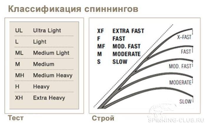 Строй спиннинга, как сделать правильный выбор - na-rybalke.ru