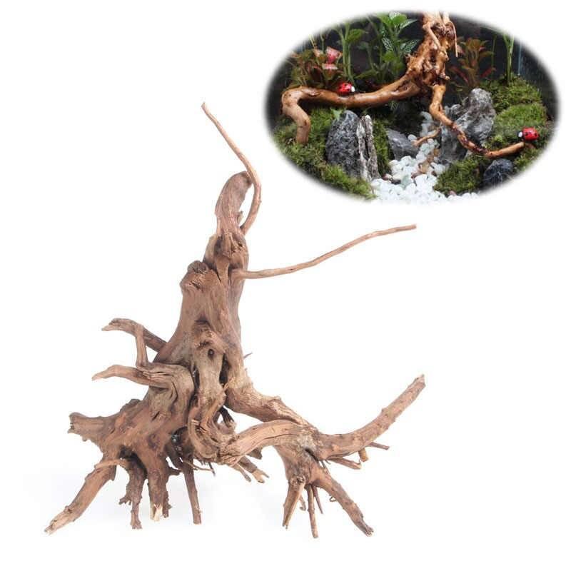Как прикрепить мох и папоротник к коряге или камню