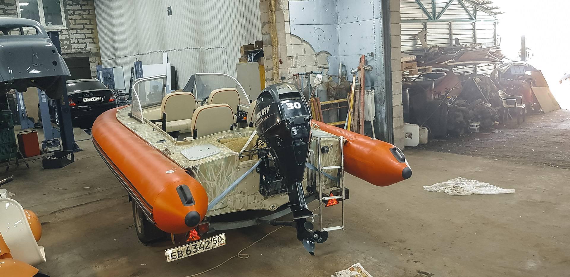 Моторная лодка прогресс
