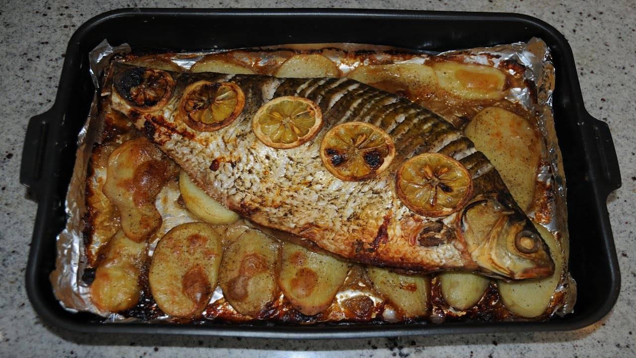 Как приготовить леща в духовке с картошкой