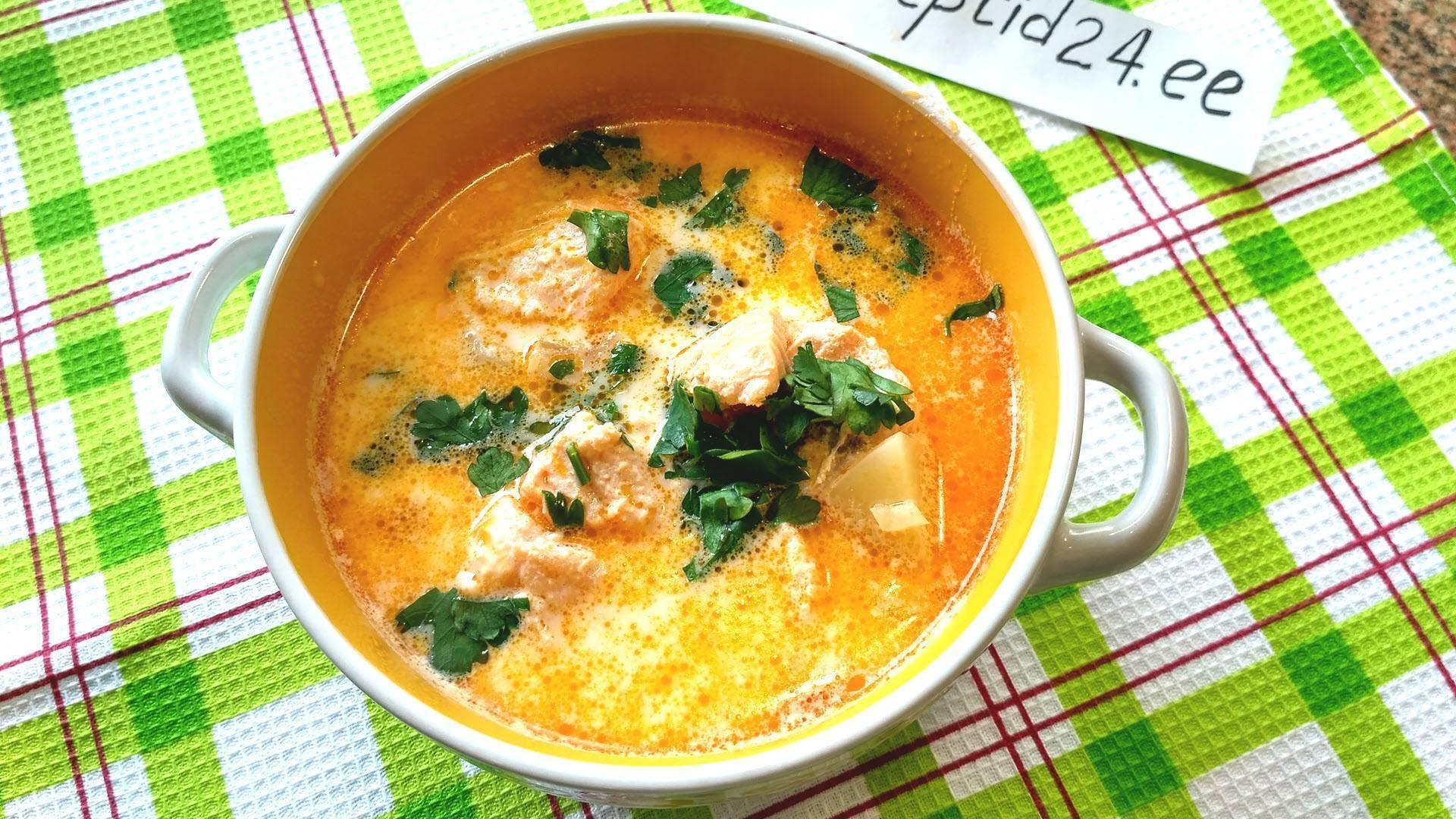Сливочный суп из лосося – кулинарный рецепт