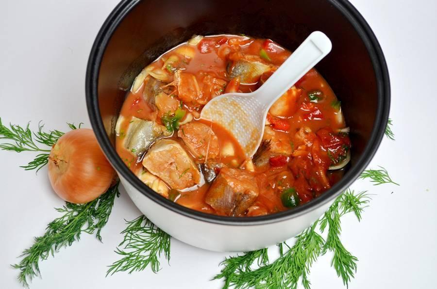 Тушеная рыба в духовке с овощами рецепт с фото пошагово и видео - 1000.menu