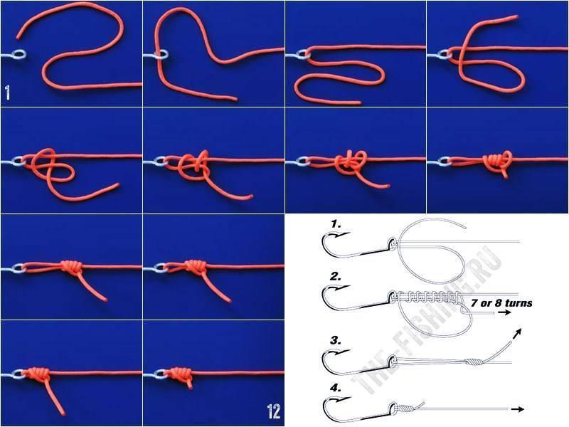 Как вязать рыболовные узлы + видео