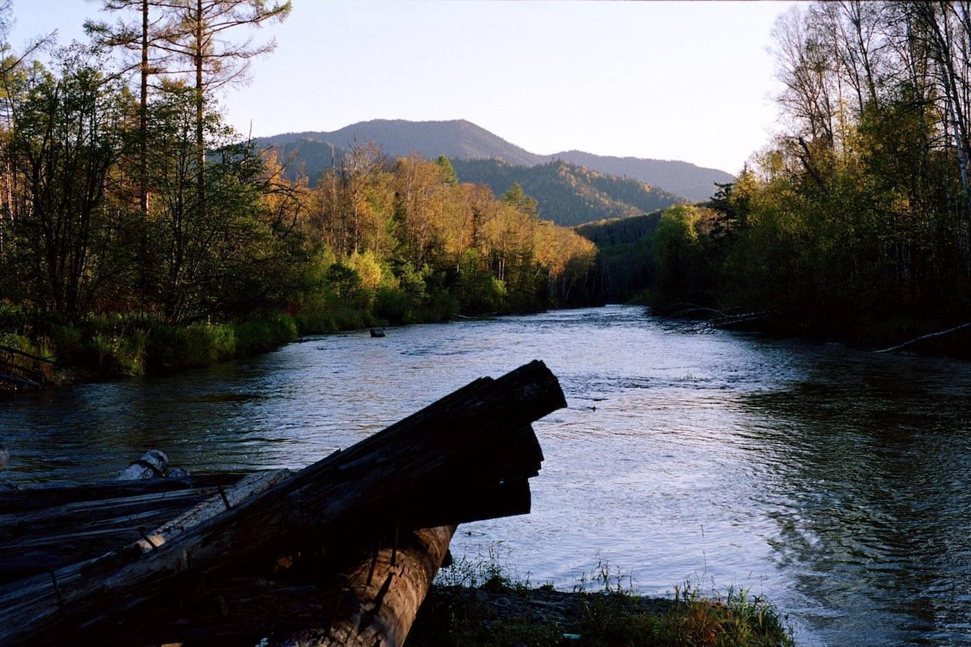 Рыбалка на реке.