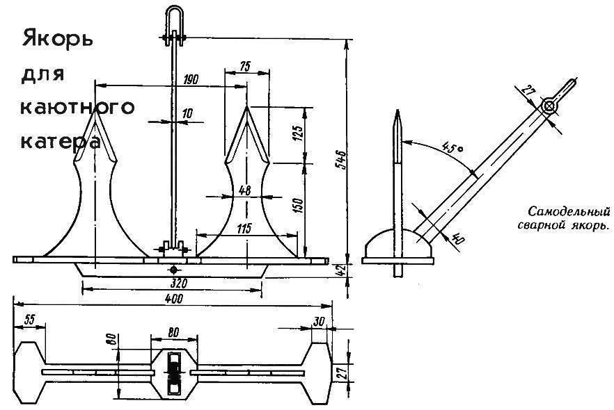 Якорь для надувной лодки пвх своими руками - как правильно сделать