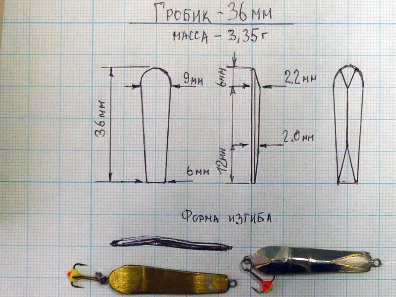 Блесна матвейчикова своими руками: чертеж для изготовления