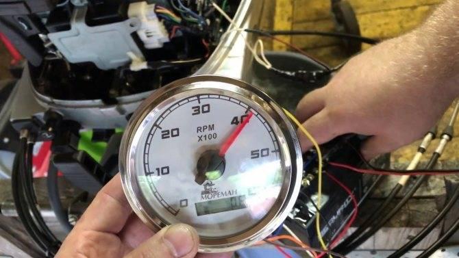 Установка тахометра для лодочного мотора