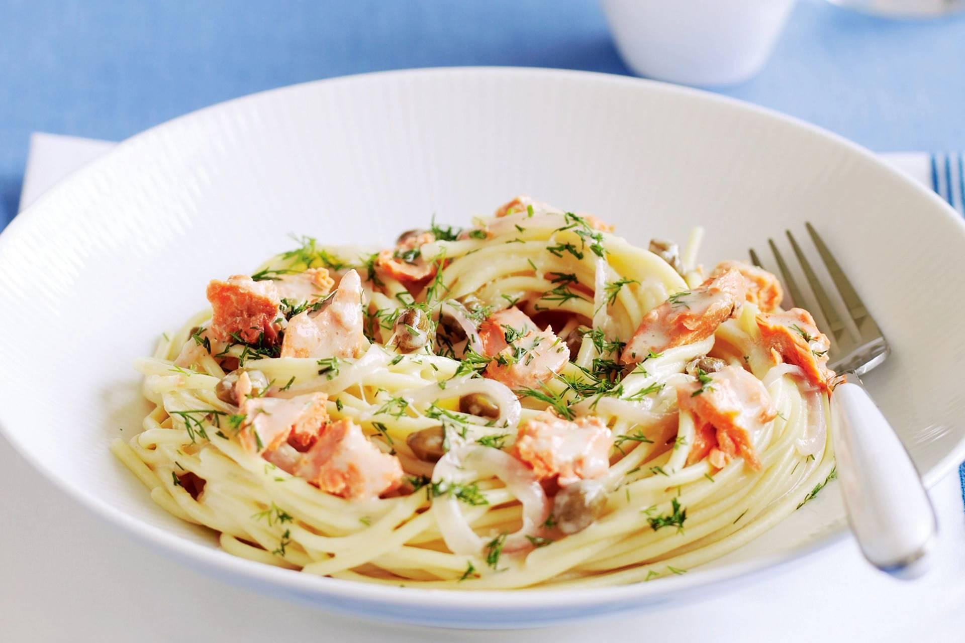 Сливочная паста с лососем – кулинарный рецепт