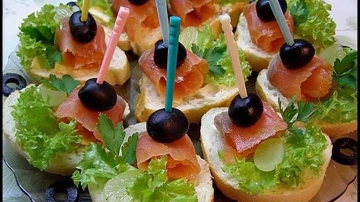 Бутерброды с красной рыбой на праздничный стол — простые и вкусные!