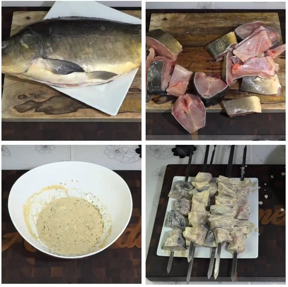 Шашлык из красной рыбы - как сделать маринад для запекания на шампурах или решетке с травами или вином