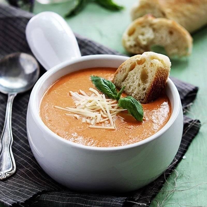 Сливочный суп с лососем