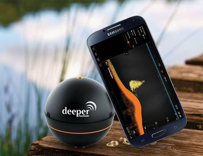 Эхолот Deeper. Промер глубины с помощью Wi-Fi, Bluetooth Deeper эхолота на видео