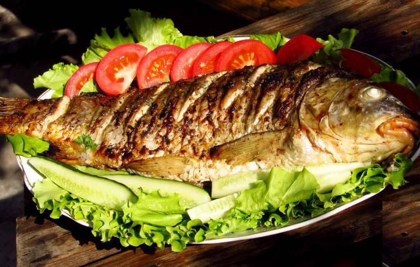 Приготовление рыбы на костре