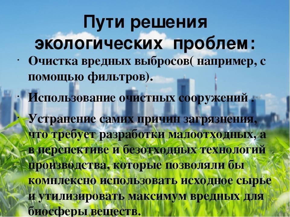 Экологическая ситуация в россии - какие существуют проблемы