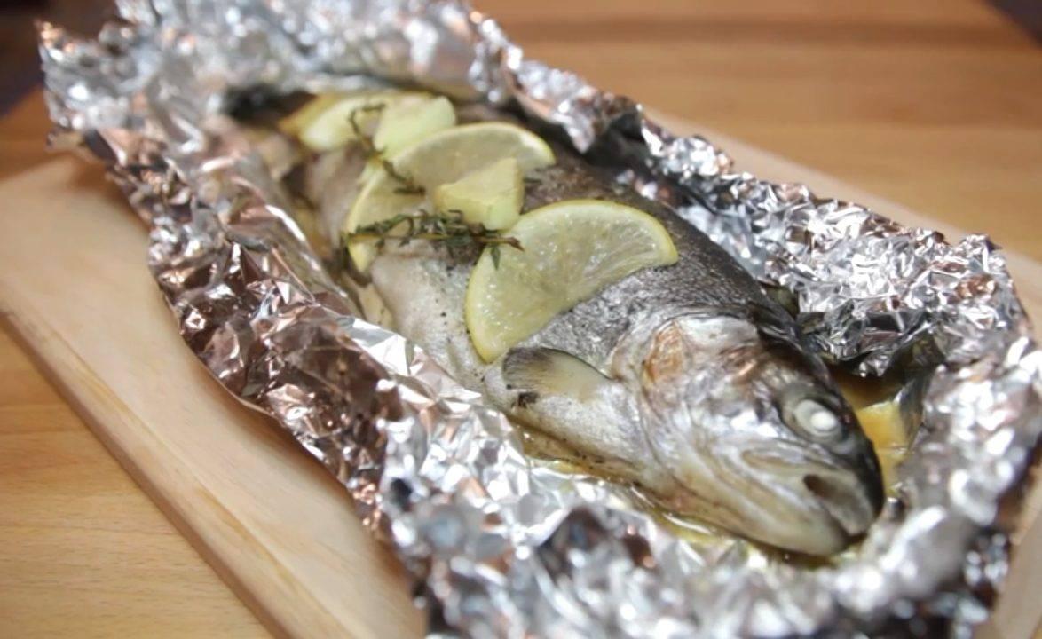 """Форель, запеченная в фольге """"золотая рыбка"""""""