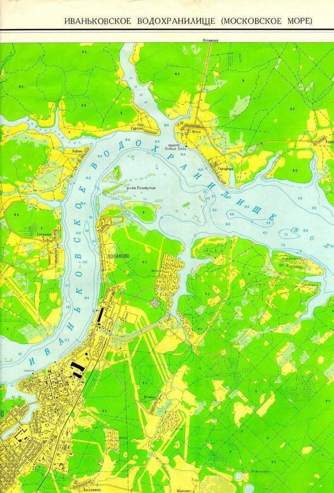 Карта бесплатных водоемов для рыбалки в подмосковье
