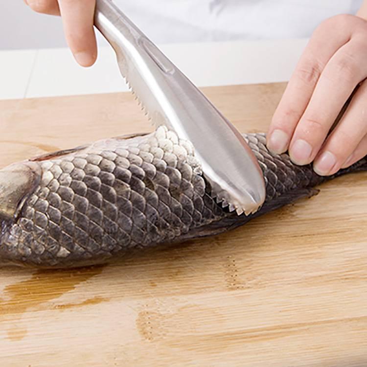 Ножи для чистки рыбы с контейнером для чешуи: как правильно чистить