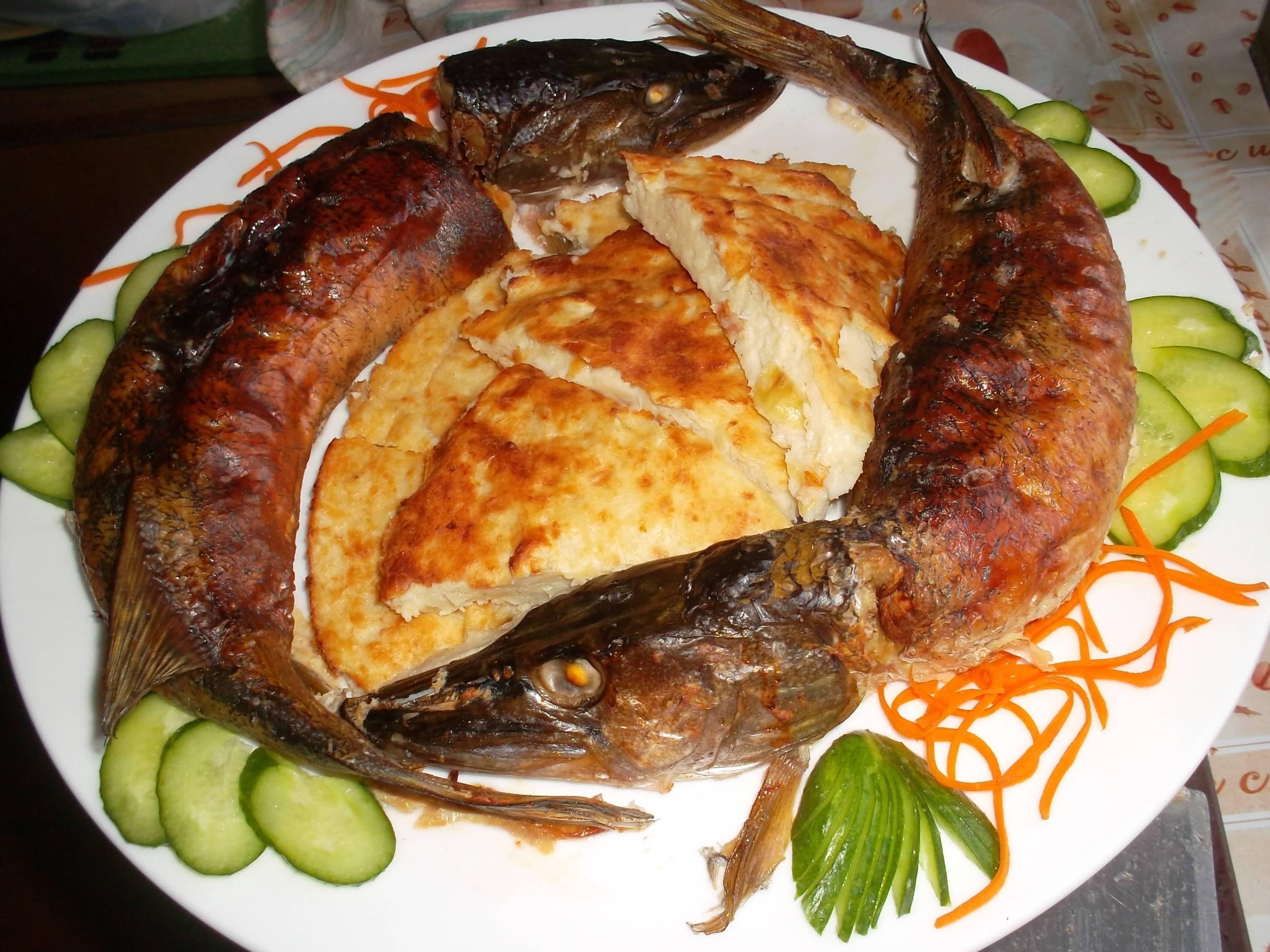 Фаршированная щука целиком, в фольге и духовке, пошаговый рецепт