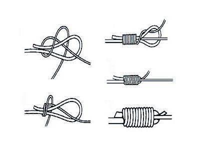 Рыболовные узлы для крючков и поводков, для плетенки и флюорокарбона