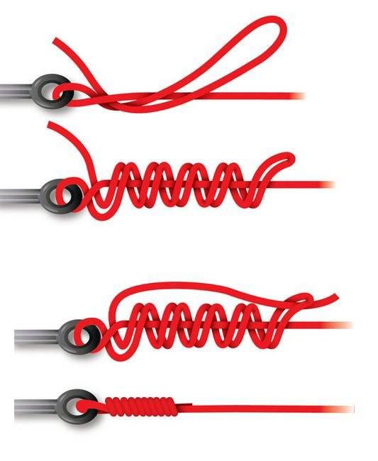 Как правильно завязывать рыболовные узлы на плетенке?