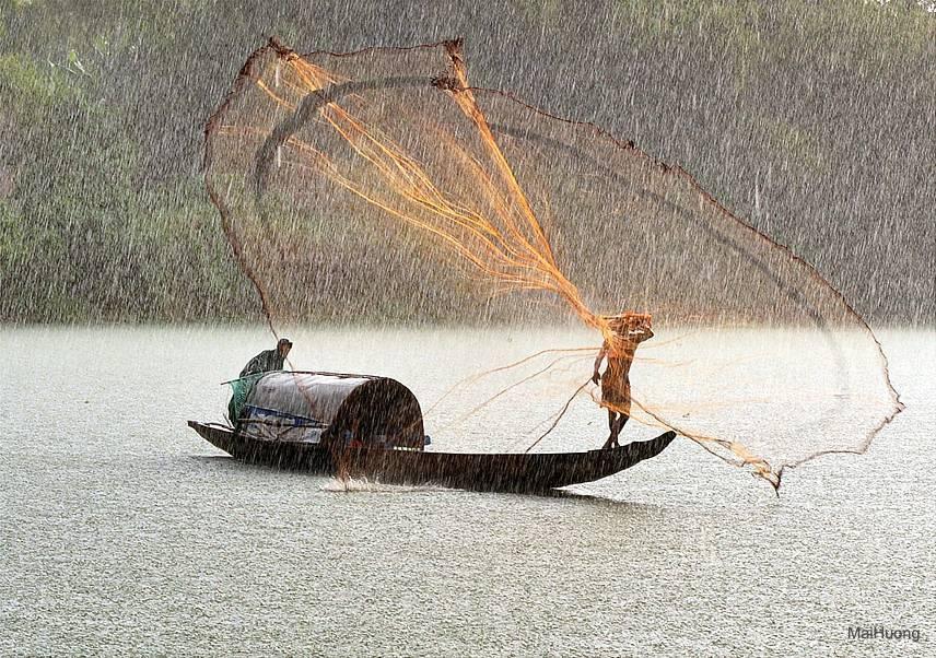 Как рыбачить кастинговой сетью