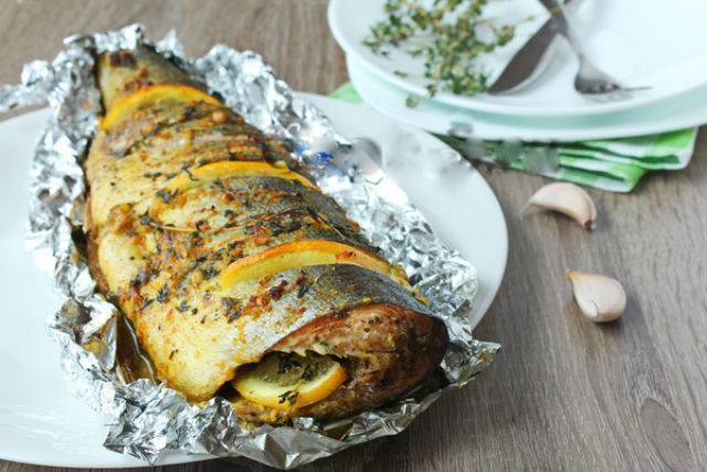 Рыба, запеченная в фольге – кулинарный рецепт