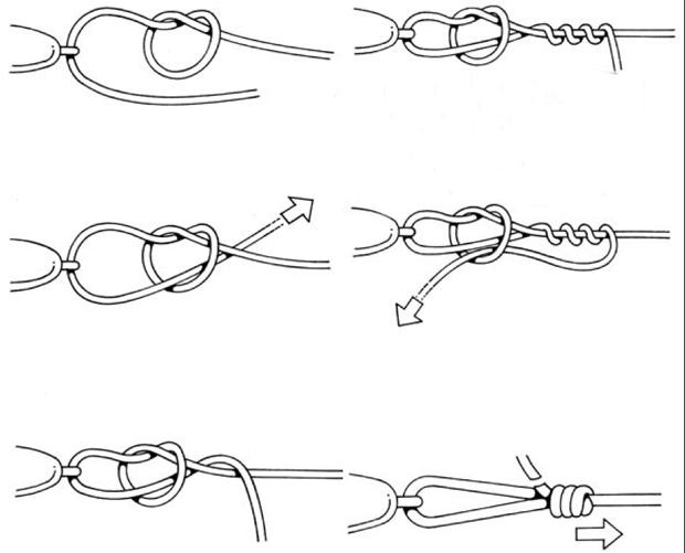 Узел для крючка - техника выполнения и фото популярных рыбацких узлов, видео
