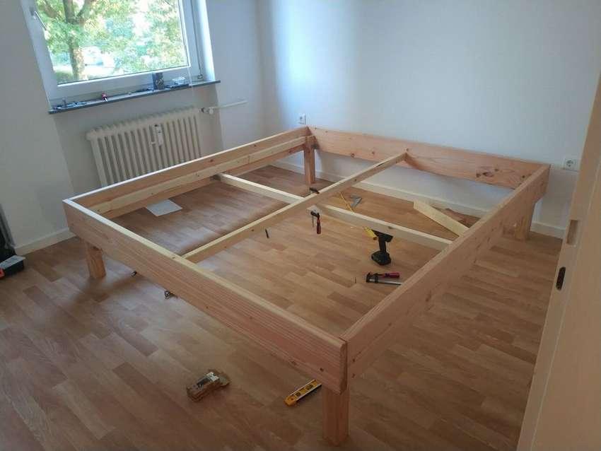 Кровать из дерева своими руками: чертежи, фото, изготовление