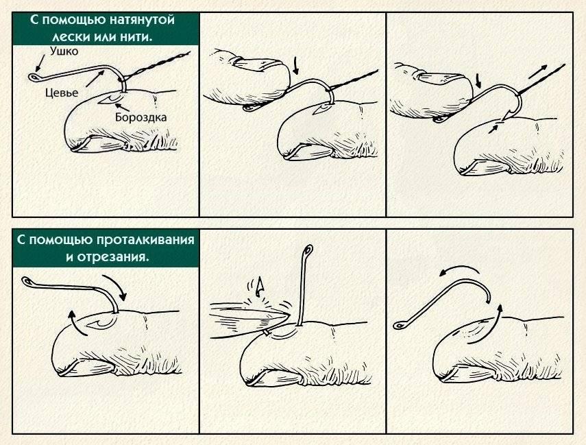 Как вытащить рыболовный крючок из пальца?