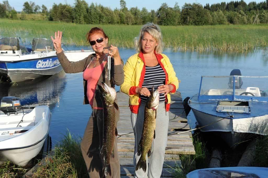 Рыбалка в пруду кипень