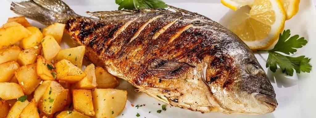 Морской окунь на гриле – кулинарный рецепт