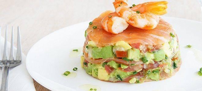 Салат с лососем | слабосоленым, копченым и консервированным