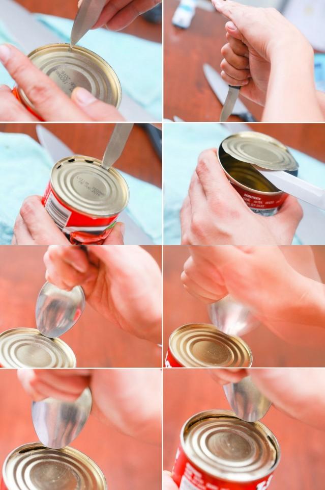 Как можно открыть любую консервную банку голыми руками