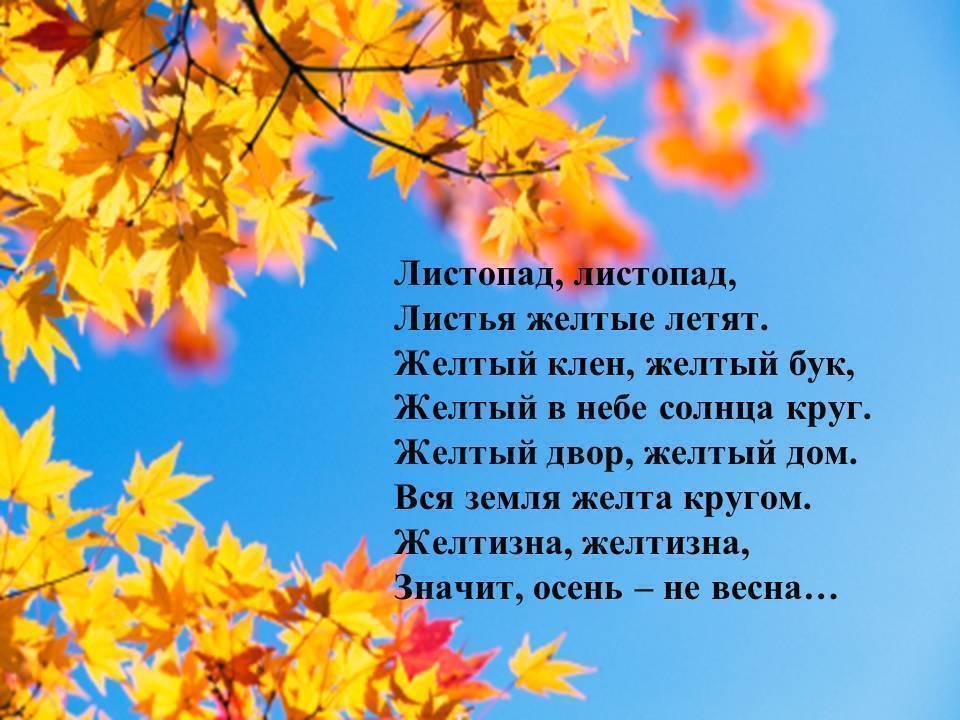 Стихи про осень. Подборка коротких и красивых стишков для детского сада