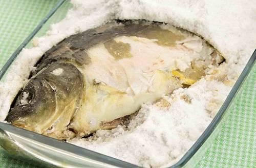 Рыба в соли из духовки