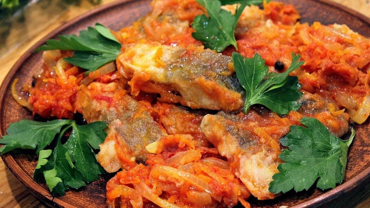 Жареная и тушеная рыба в томате: лучшие рецепты с фото