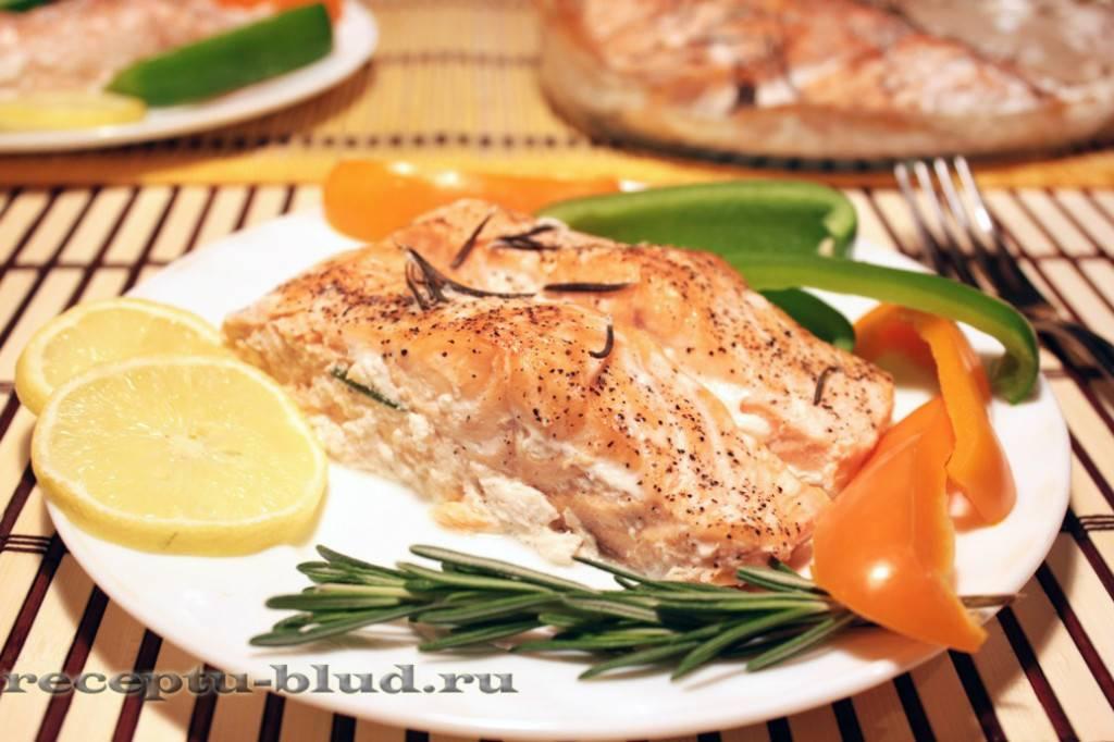 Красная рыба в духовке запеченная