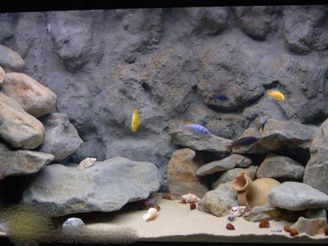 Грот для аквариума своими руками