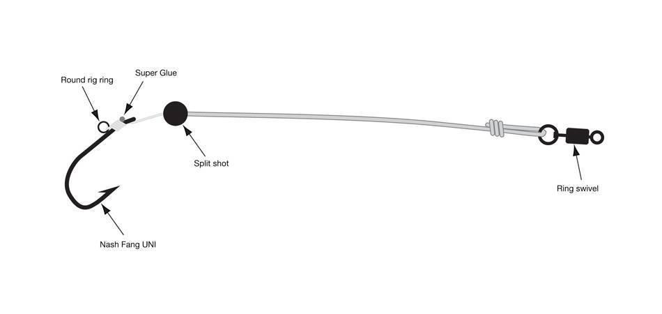 Улучшенный сплитшот (split shot) для ловли окуня, щуки, судака