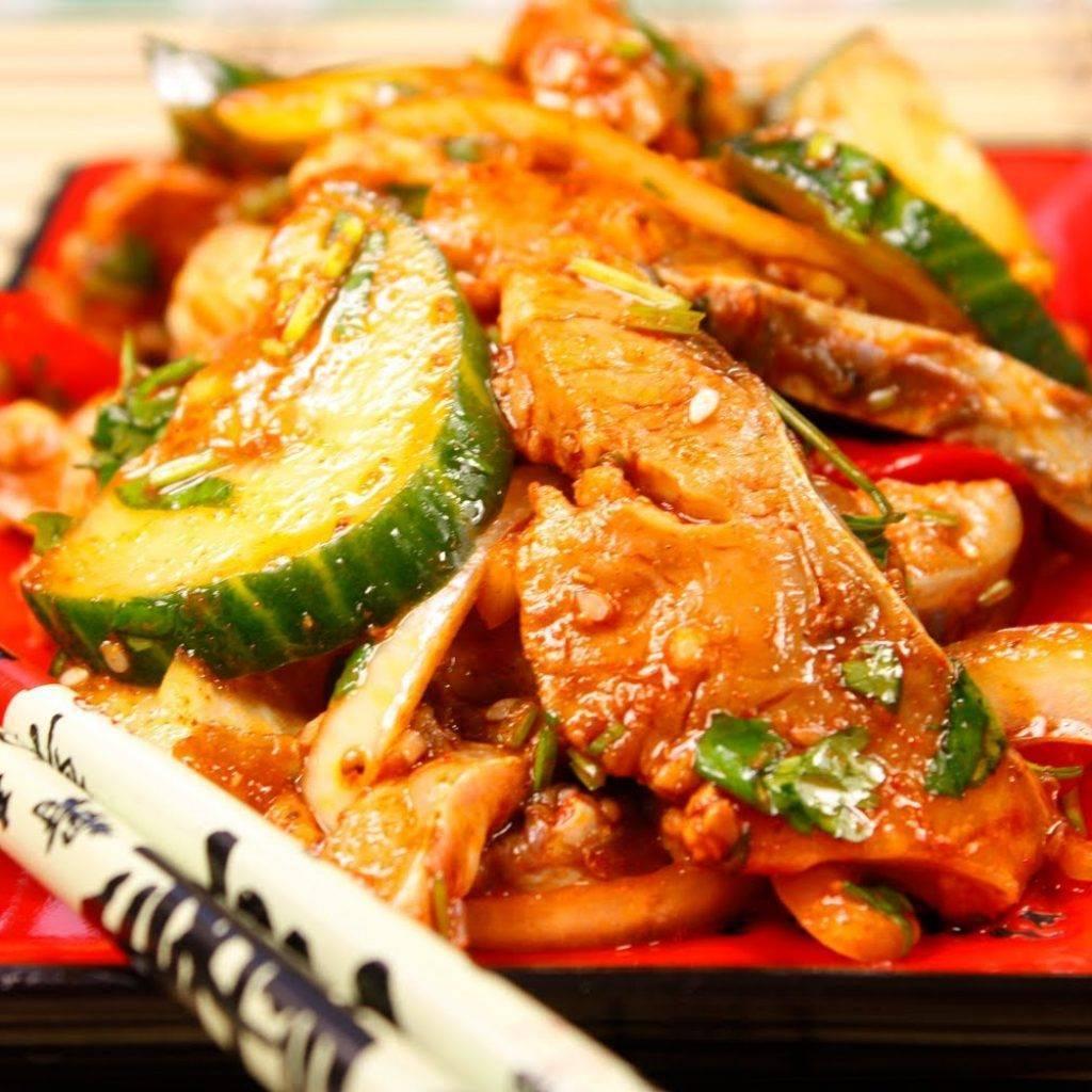 Салат хе из рыбы по-корейски с морковью | 3 рецепта приготовления