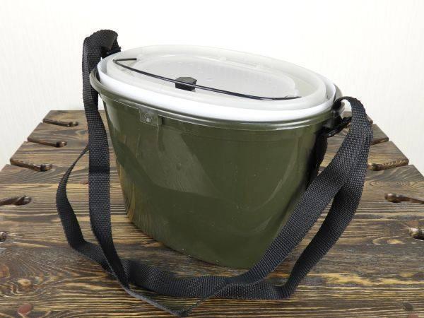 Рыболовные каны: ведра и ящик для живца, с компрессором, аэратором и другие разновидности емкостей для наживки