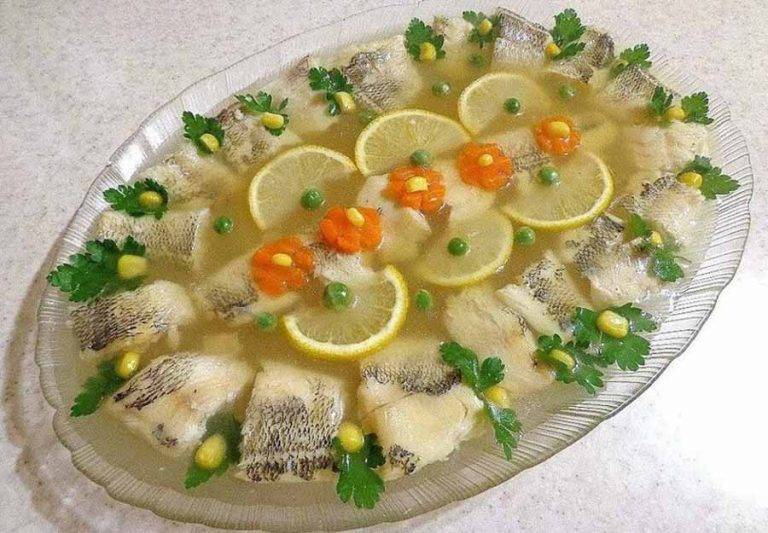 Заливное из щуки с желатином и без – как приготовить по пошаговым рецептам с фото